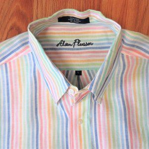 ALAN FLUSSER REGULAR FIT 100% LINEN MULTI COLOR